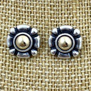 James Avery Retired 14k/Sterling SQUARE Earrings